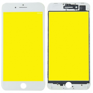 Display Glas für Apple iPhone 8 Plus 5.5 LCD Displayglas Rahmen OCA Kleber Weiß