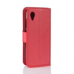 Tasche Wallet Premium Rot für Wiko Sunny 2 Hülle Case Cover Etui Schutz Zubehör - Vorschau 3
