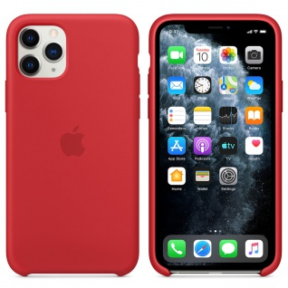 Apple Silicone Case für iPhone 11 Pro Red Rot Tasche Schutz Handy Hülle Case