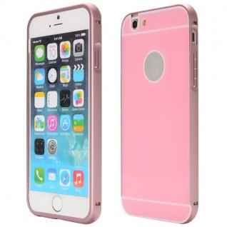 Alu Bumper 2 teilig mit Abdeckung Rosa für Apple iPhone 6 Plus Tasche Hülle Case