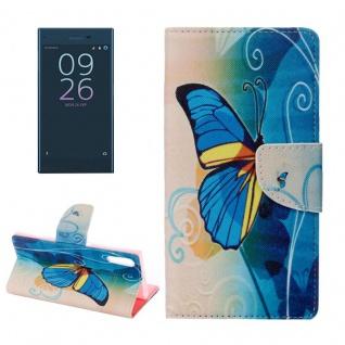Tasche Wallet Premium Muster 16 für Sony Xperia XZ F8331 Bookcover Hülle Case
