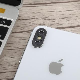 Kamera Cam Schutz Protection Ring für Apple iPhone XS Max 6.5 Zoll Schwarz 2Pcs - Vorschau 3