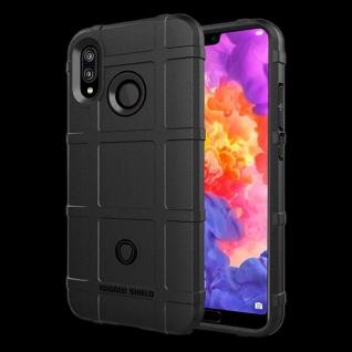 Für Huawei P20 Lite Shield Series Outdoor Schwarz Tasche Hülle Cover Schutz Case