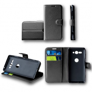 Für Apple iPhone XR 6.1 Zoll Tasche Wallet Schwarz Hülle Case Cover Book Etui