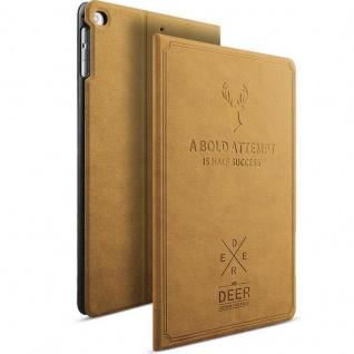 Design Tasche Backcase Smartcover Hell Braun für Apple iPad Air 1 / Air 2 Hülle