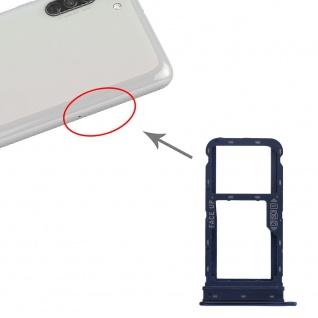 Für Motorola Moto G8 Power Dual Sim / SD Karten Halter Blau Ersatzteil Zubehör
