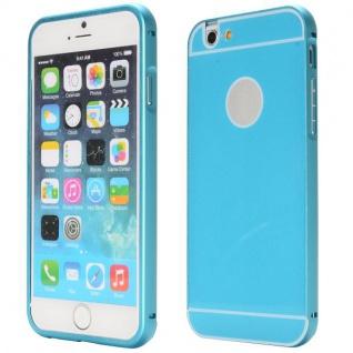 Alu Bumper 2 teilig mit Abdeckung Blau für Apple iPhone 6 4.7 Tasche Hülle Case