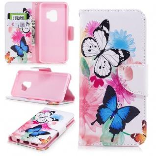 Tasche Wallet Book Cover Motiv 29 für Samsung Galaxy S9 G960F Hülle Case Etui