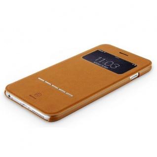 Original Baseus Window View Tasche Braun für Apple iPhone 6 Plus 5.5 Hülle Case