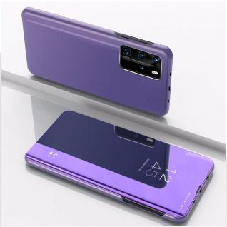 Für Xiaomi Mi 10T / 10T Pro 5G View Smart Cover Hülle Lila Handy Tasche Etuis