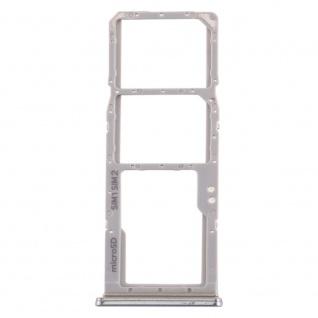 Dual Sim Karten Halter für Samsung Galaxy A70 Silber Card Tray Micro SD Ersatz - Vorschau 2