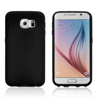 Design Cover mit Frontabdeckung Schwarz für Samsung Galaxy S6 G920 G920F Tasche