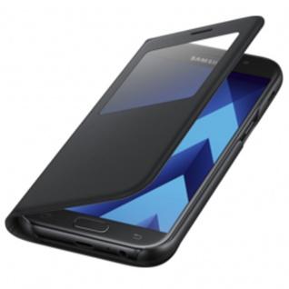 Samsung S View Wallet Tasche Kunstleder EF-CA520 f. Galaxy A5 A520F 2017 Schwarz - Vorschau 3