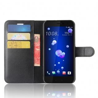 Tasche Wallet Premium Schwarz für HTC U11 Plus Hülle Case Cover Etui Schutz Neu - Vorschau 5