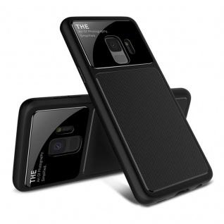 Design Cover Schwarz für Samsung Galaxy S9 G960F Schutz Etui Tasche Hülle Case