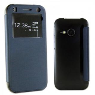 Smartcover Window Dunkelblau für HTC One Mini 2 Tasche Cover Case Hülle Zubehör - Vorschau 1