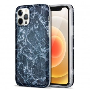 Für Apple iPhone 12 Mini Muster Silikon TPU Handy Tasche Hülle Grau