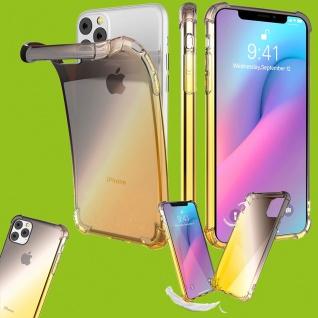 Für Apple iPhone 11 6.1 Silikon TPU Schwarz / Gelb Tasche Hülle Etuis Cover Case