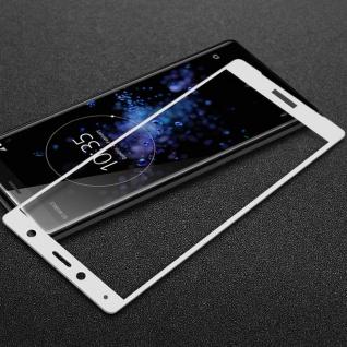 Premium 0, 3 mm H9 2.5D Panzerglas Weiß Folie für Sony Xperia XZ2 Schutz Hülle