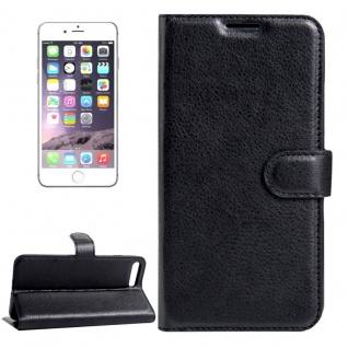 Schutzhülle Schwarz für Apple iPhone 8 und 7 4.7 Zoll Bookcover Tasche Case Neu
