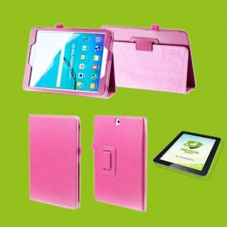 Für Apple iPad Pro 12.9 Zoll 2018 Pink Etuis Hülle Tasche Kunstleder + Hart Glas