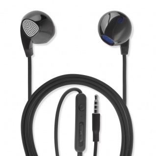 Universal In-Ear Stereo Headset 3, 5 mm Audiokabel 1, 2 m Kopfhörer Ohrhörer Black