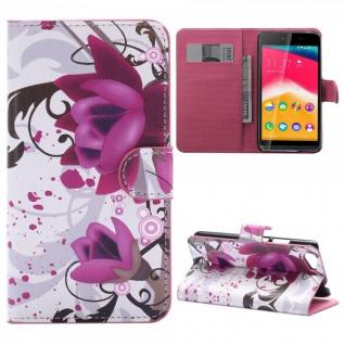 Schutzhülle Muster 3 für Wiko Rainbow Jam Bookcover Tasche Hülle Wallet Case Neu