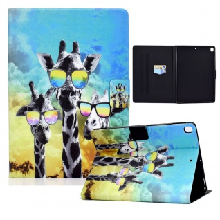 Für Apple iPad 10.2 2019 / 2020 7. / 8. Gen Motiv 85 Tablet Tasche Kunst Leder