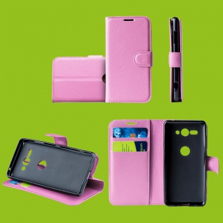 Für Huawei P30 Lite Tasche Wallet Premium Rosa Hülle Etuis Cover Case Schutz Neu