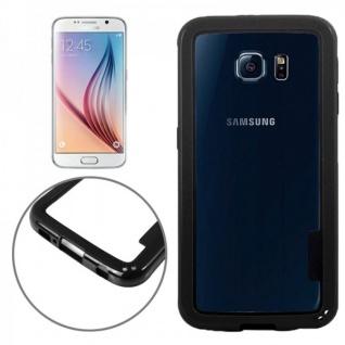 Hybrid Bumper Schwarz Hülle Case Schale Tasche für Samsung Galaxy S6 G920 G920F