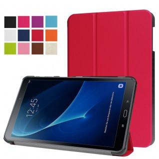 Smartcover Rot für Samsung Galaxy Tab A 10.1 T580 T585 Hülle Case Tasche Schutz