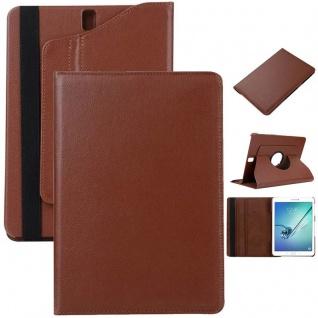 Schutzhülle 360 Grad Braun Tasche für Samsung Galaxy Tab S3 9.7 T820 T825 Case