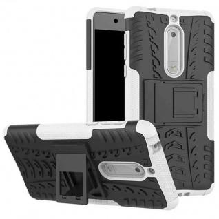 Hybrid Case 2teilig Outdoor Weiß Tasche Hülle für Nokia 5 Schutz Etui Cover Neu