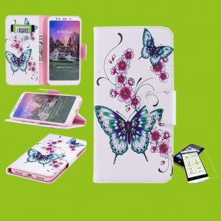 Für Samsung Galaxy M20 6.3 Kunstleder Tasche Book Motiv 31 + H9 Glas Hülle Etuis