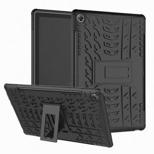 Für Samsung Galaxy Tab A 10.1 T510 T515 2019 Hybrid Schwarz Tasche Etuis Hülle