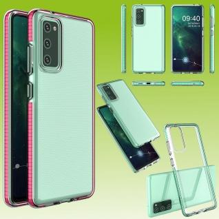 Für Samsung Galaxy S20 FE Color Frame Case Pink Handy Tasche Hülle Etuis Cover