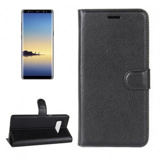 Schutzhülle Schwarz für Samsung Galaxy Note 8 N950F Bookcover Tasche Case Cover