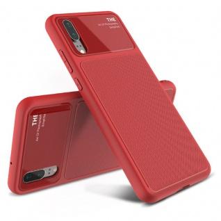 Design Cover Rot für Huawei P20 TPU Silikon Schutz Tasche Hülle Case Etui Neu