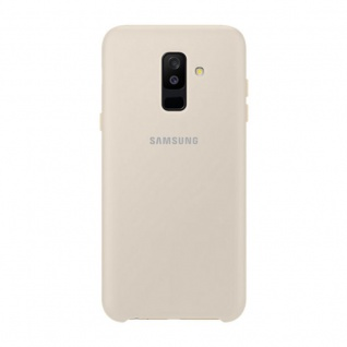 Samsung Dual Layer Cover EF-PA605CFEGWW für Galaxy A6 Plus 2018 Tasche Gold Case