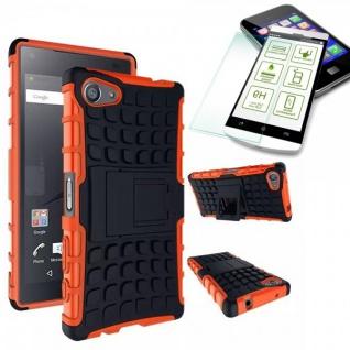 Hybrid Case Orange für Sony Xperia Z5 Compact 4.6 Zoll + H9 Hartglas Tasche