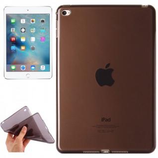 Schutzhülle Silikon Glossy Serie Schwarz Hülle für Apple iPad Mini 4 7.9 Tasche
