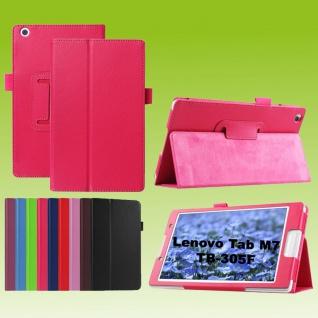Für Lenovo Tab M7 TB-7305F Pink Kunst-Leder Hülle Cover Tablet Tasche Etuis Case