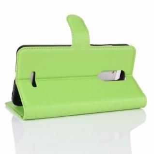 Tasche Wallet Premium Grün für Wiko Upulse Lite Hülle Case Cover Etui Schutz Neu - Vorschau 4