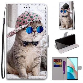 Für Xiaomi Redmi Note 9T / Note 9 5G Kunst-Leder Handy Tasche Motiv 4 Hülle Etui