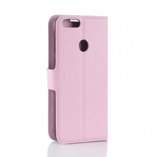 Tasche Wallet Premium Rosa für Huawei Enjoy 7S / P Smart Hülle Case Cover Schutz - Vorschau 3