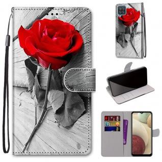 Für Samsung Galaxy A12 A125F Kunst-Leder Handy Tasche Motiv 10 Hülle Case Etuis