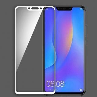 Für Huawei P Smart Plus 2x 3D Display 0, 3 mm H9 Hart Glas Weiß Schutz Folie Neu