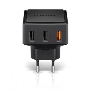 Quick Charge 3x USB Schnellladegerät Ladegerät Lader 6 A für Smartphones Tablets