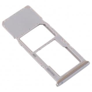 Sim Karten Halter für Samsung Galaxy A70 Silber Card Tray Micro SD Ersatzteil - Vorschau 3