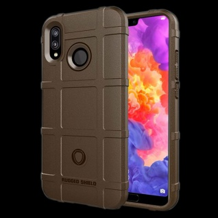 Für Huawei P20 Shield Series Outdoor Braun Tasche Hülle Cover Schutz Case Etui